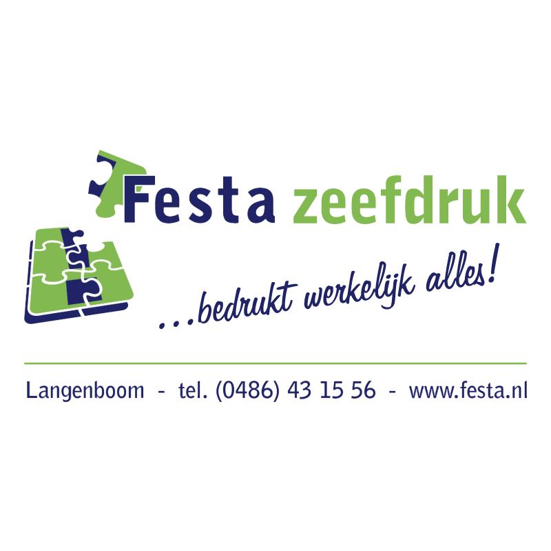 Festa zeefdruk vector logo
