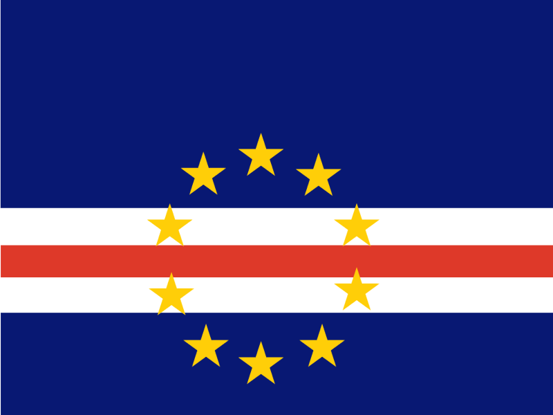 Flag of Cabo Verde vector