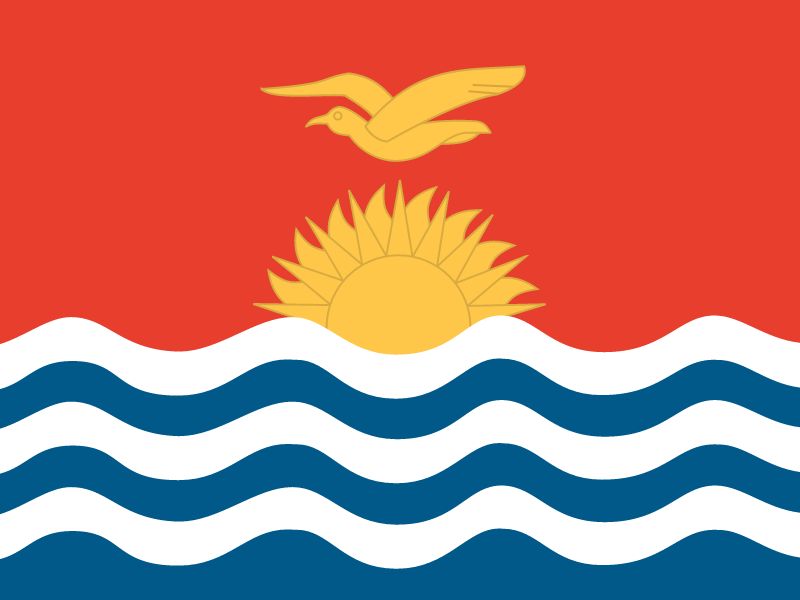 Flag of Kiribati vector