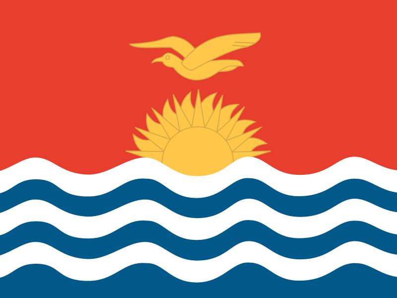 Flag of Kiribati vector