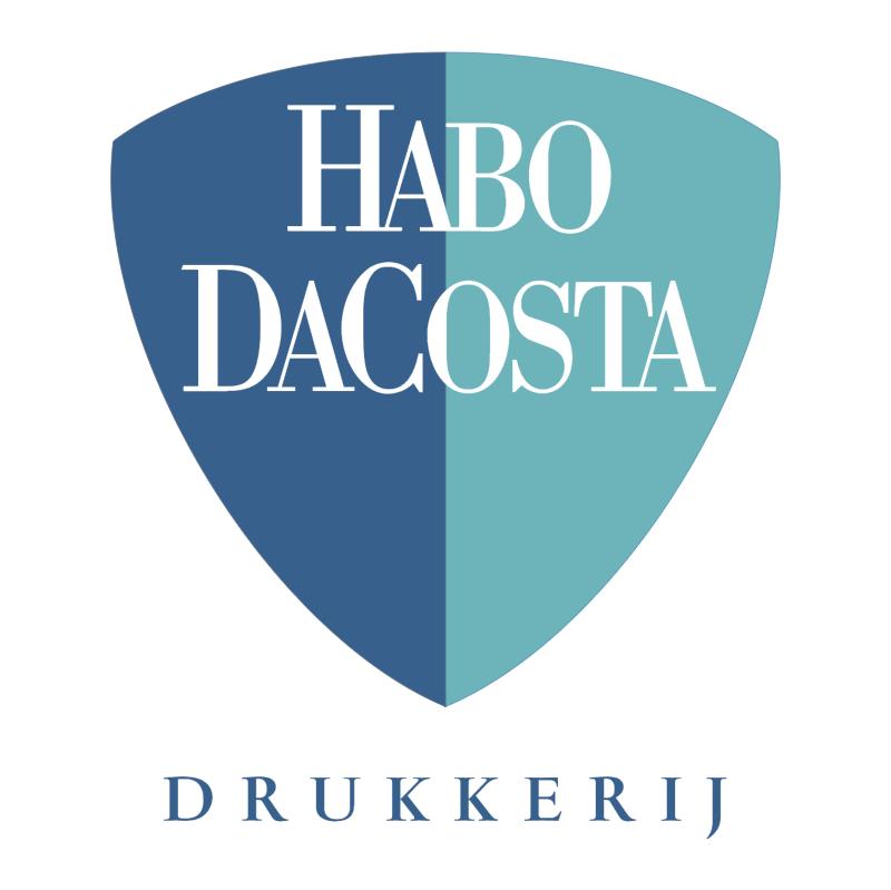 Habo Dacosta Drukkerij vector