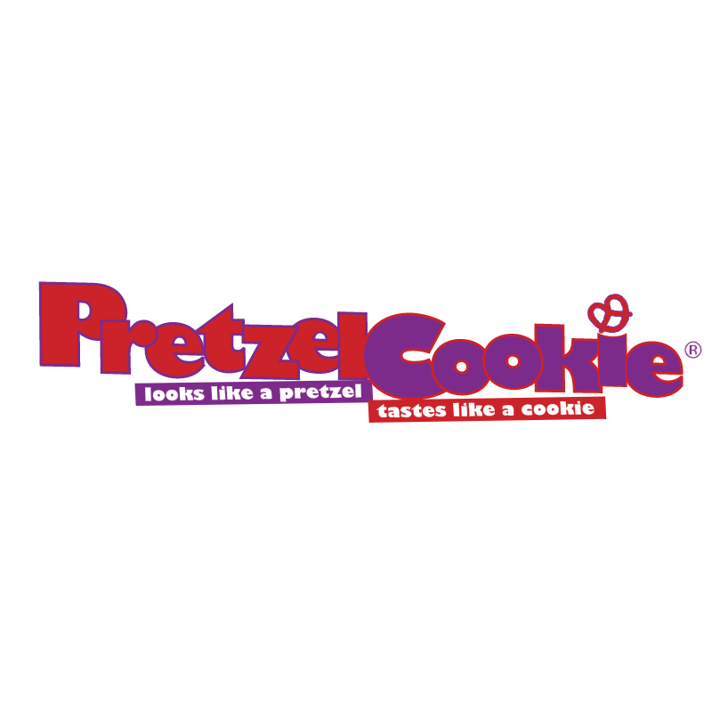 Pretzel Cookie vector logo