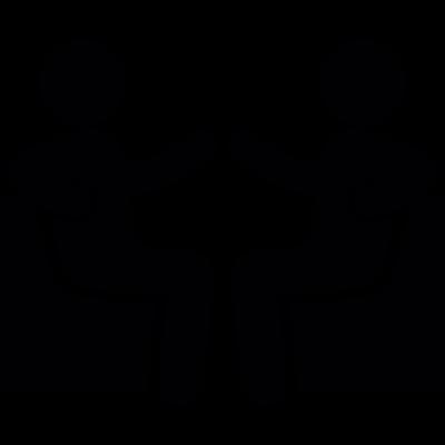 Friends talking vector logo