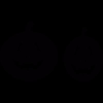 Two Smiling pumpkins vector logo