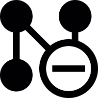Network remove button vector