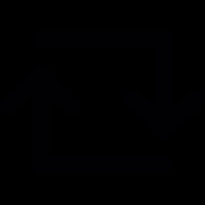 Refresh square arrows vector logo