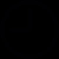 Round clock at nine oclock vector