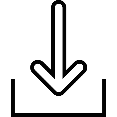 Download symbol to inbox vector logo