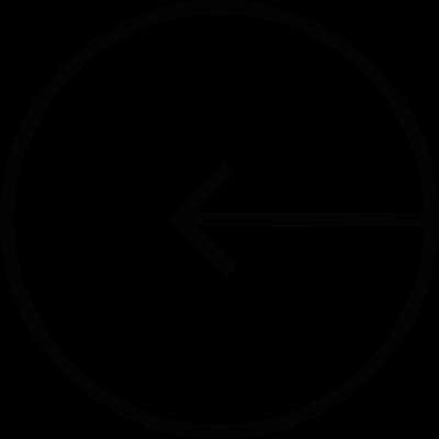 Circle with Left Arrow vector logo
