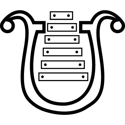 Harp musical instrument, IOS 7 symbol vector logo