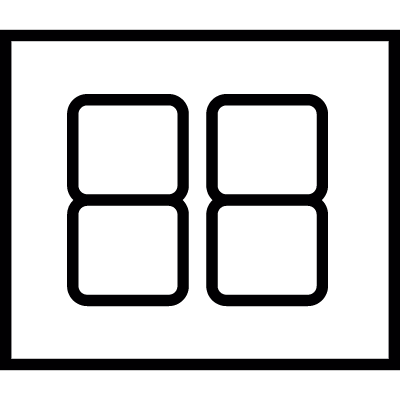 Segment display, IOS 7 interface symbol vector logo