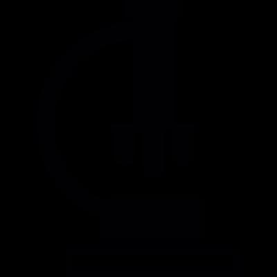 Microscope vector logo
