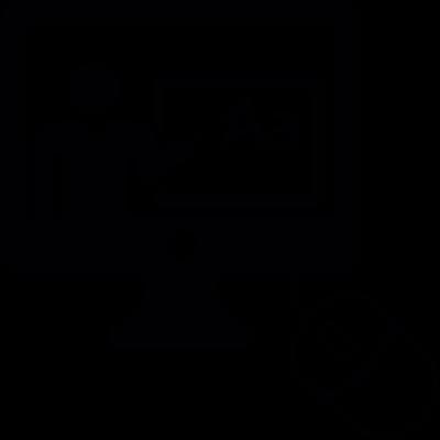 Online class vector logo