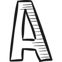 Capital letter A vector