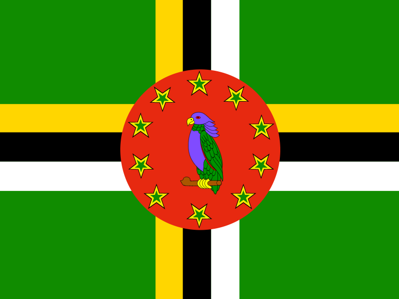 Flag of Dominica vector