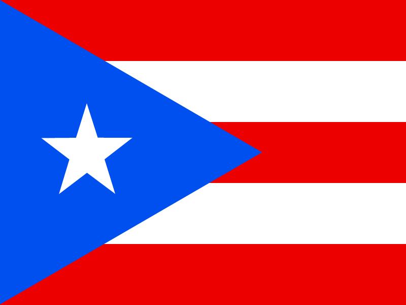 Flag of Puerto Rico vector logo