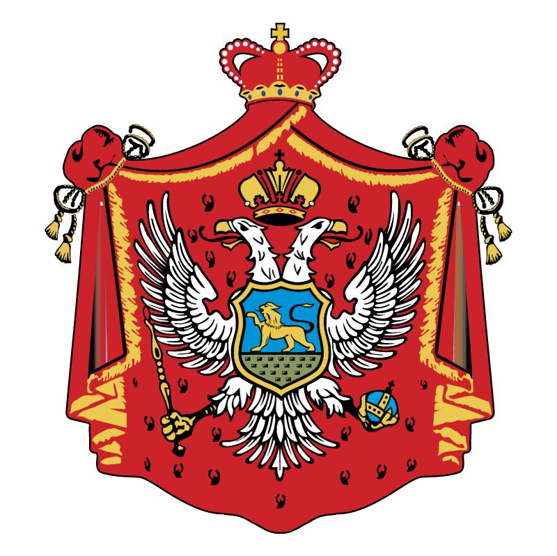 Montenegro old crest vector