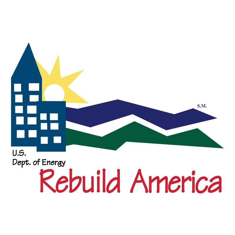 Rebuild America vector