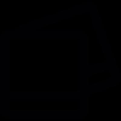 Blank polaroid pictures vector logo