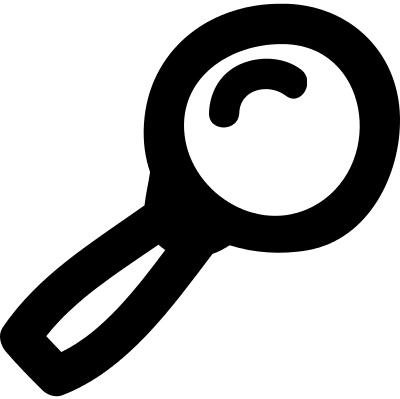 Draw Magnifying lens vector logo