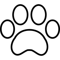 White paw print vector