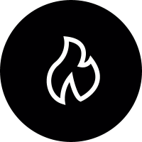 Fire Round Button vector