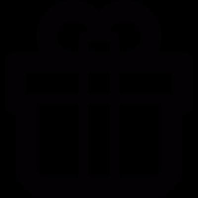 Gift box with a ribbon vector logo