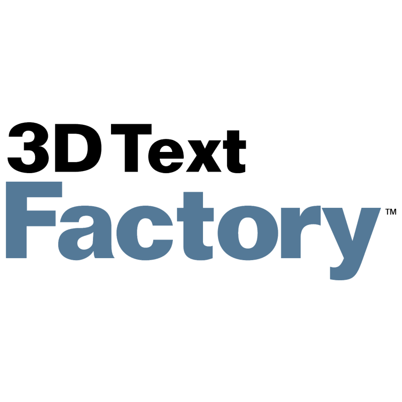 3D Text Factory vector