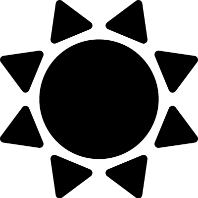Sun black shape variant vector logo
