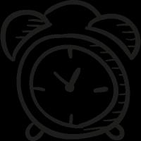 Draw Alarm Clock vector