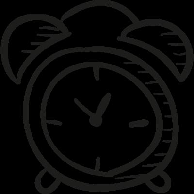 Draw Alarm Clock vector logo