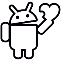 Android Holding Heart vector