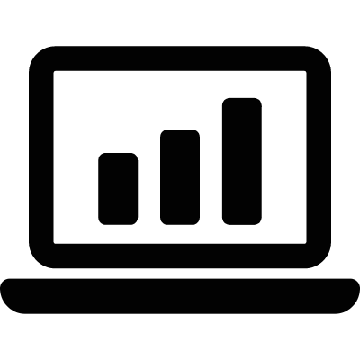 Statistics On Laptop vector logo