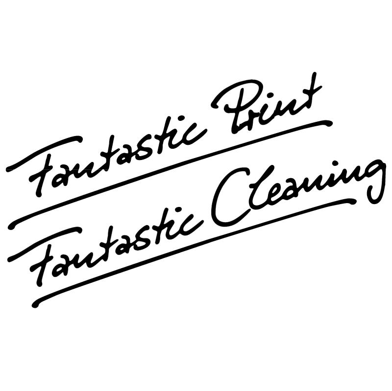 Fantastic Print Fantastic Cleaning vector