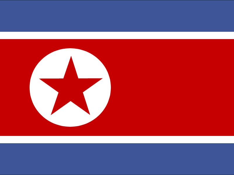 Flag of Democratic People's Republic of Korea vector