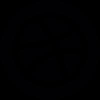 Basket Ball Dribbble Logo vector