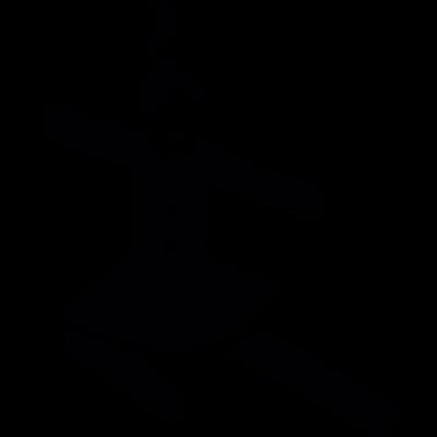 Jumping girl vector logo