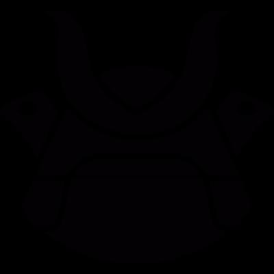 Samurai helmet vector logo