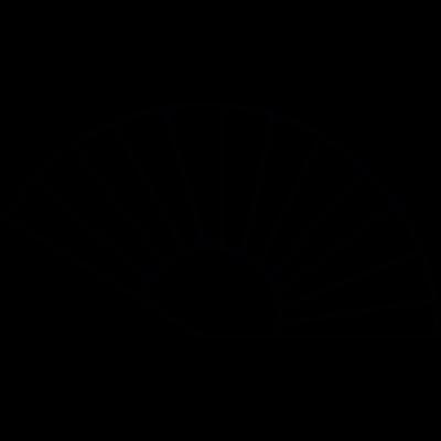 Fan outline, IOS 7 interface symbol vector logo