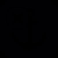 Ship anchor with cross mark vector