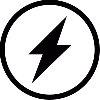 Lightning in a circle vector