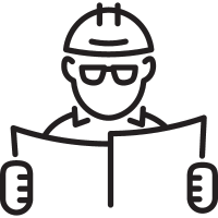 Architect with Helmet vector