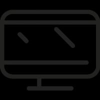 Rectangular Monitor vector