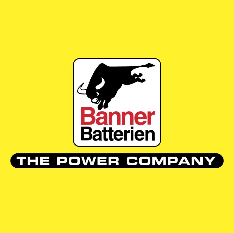 Banner Batterien vector