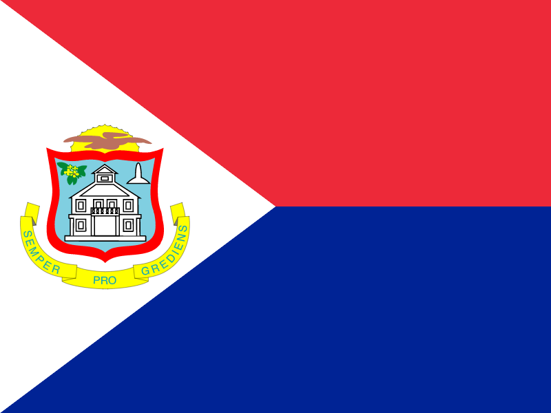 Flag of Saint Martin (French part) vector