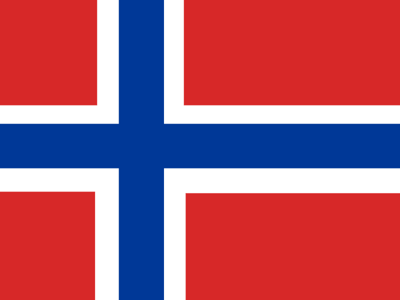 Flag of Svalbard and Jan Mayen vector logo