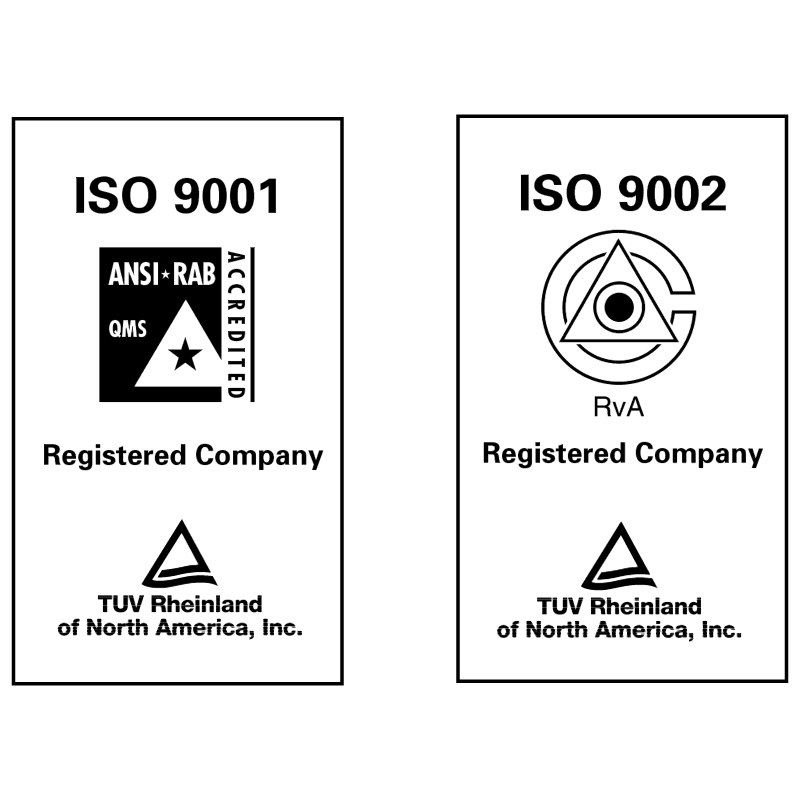 ISO 9002 TUV vector