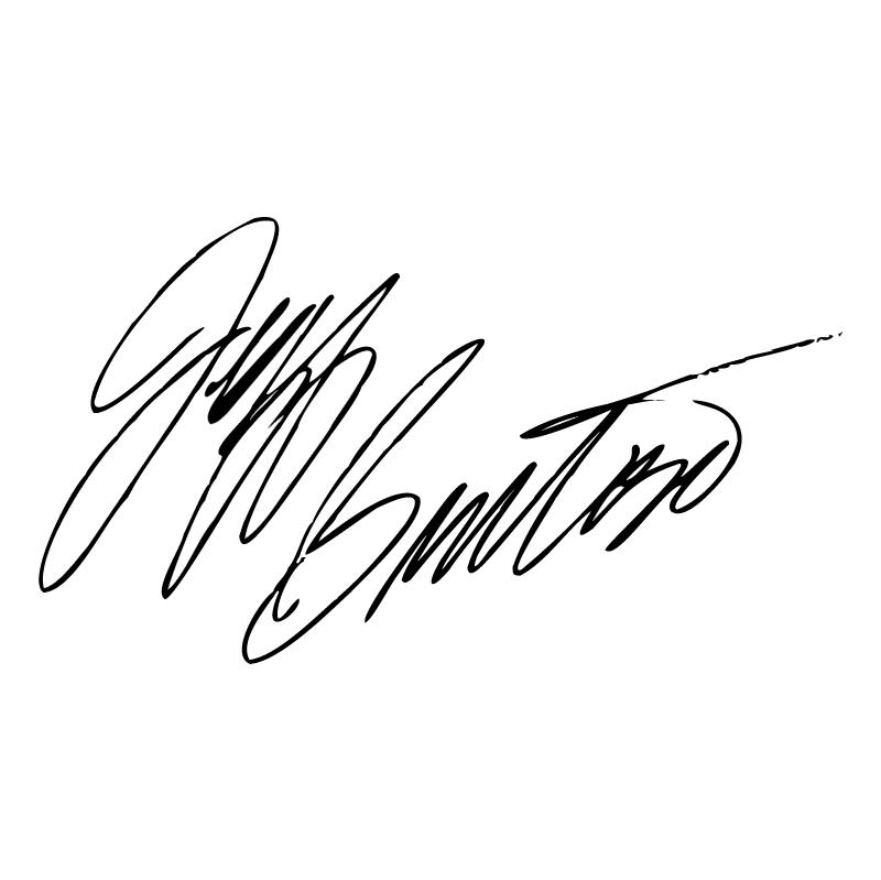 Jeff Burton Signature vector logo