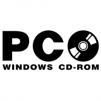 PC Windows CD ROM vector