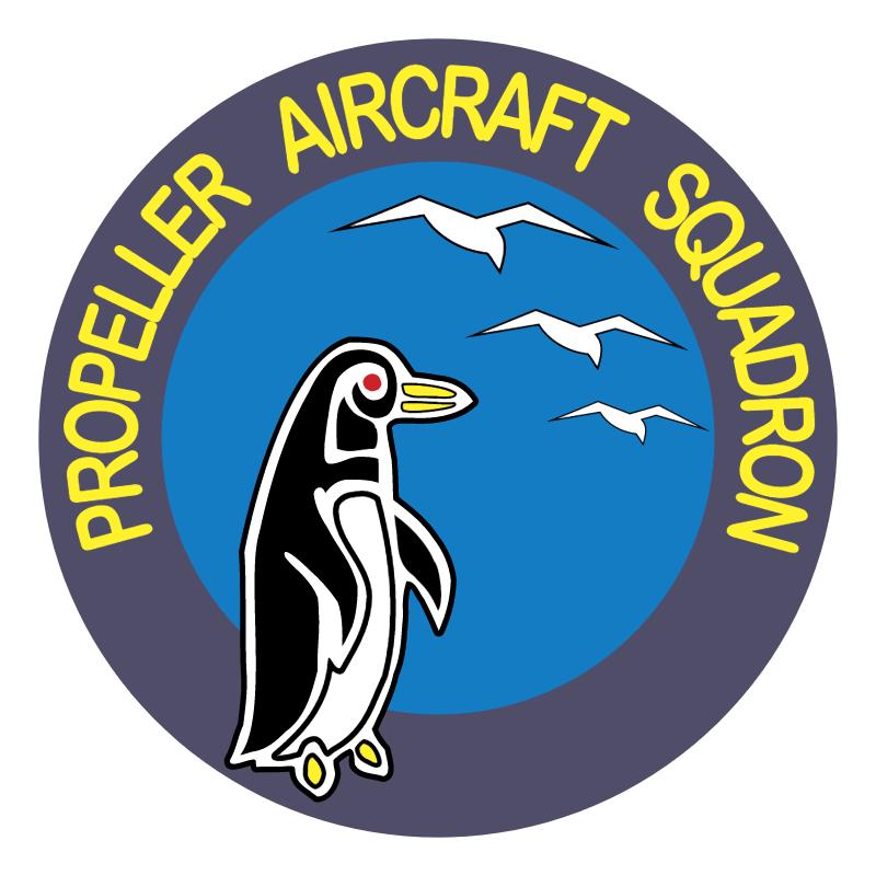 Propeller Aircraft Squadron vector logo